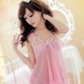 【☆送料無料】お姫様ピンクの ベビードール×Tバック